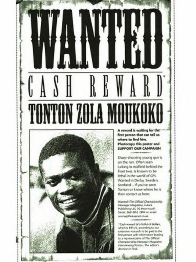 ETTERLYST: Det offisielle Championship Manager-magasinet etterlyste Tonton Zola Moukoko.