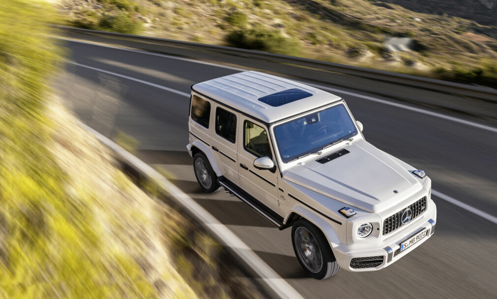 DE RASKESTE SUV-ENE: Mercedes-Benz' eksklusive luksusbil G63 havner på en sjuendeplass på lista over de ti raskeste SUV-ene på markedet. Foto: Mercedes