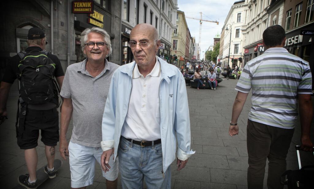 MÅ AVLYSE: Tore Ryen (t.h.) er blitt akutt syk, og dermed må han og skuespiller Nils Vogt (t.v.) avlyse høstens planlagte 25-årsjubileumsforestilling for «Mot i Brøstet». Foto: Anders Grønneberg
