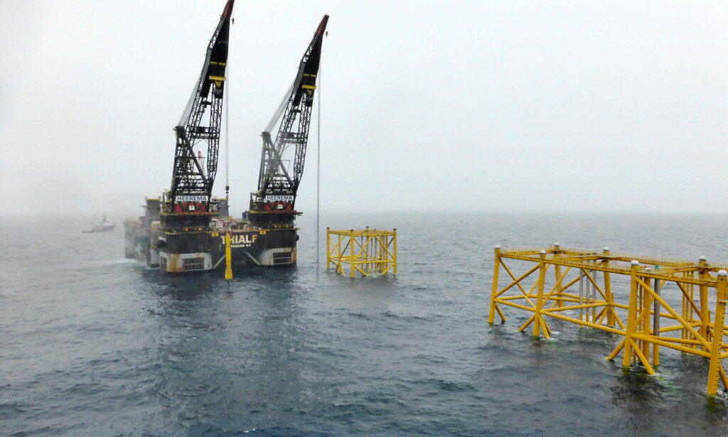 800 arbeidere: Equinors oljeplatform Johan Sverdrup i Nordsjøen. Foto: NTB Scanpix