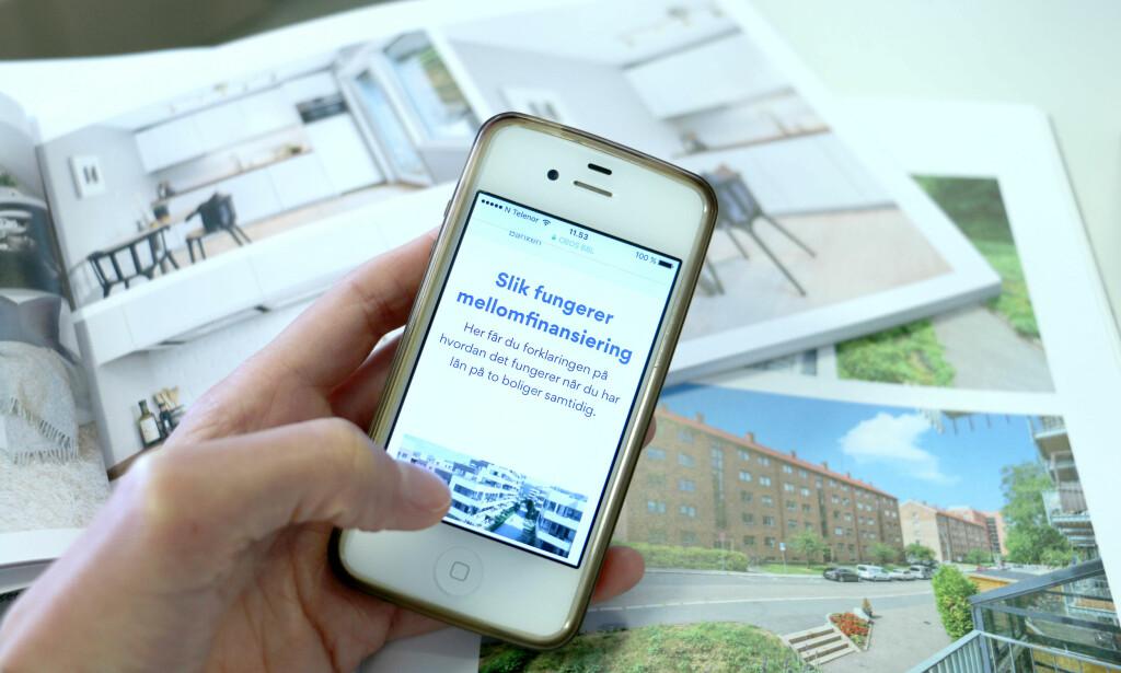 KJØPE, SÅ SELGE: Du må kanskje ta opp et lån mellom kjøp og salg av bolig, et såkalt mellomfinansieringslån. Husk bare at disse lånene er dyrere enn andre boliglån, samt at du kun kan sitte med lånet og to boliger i ett år. Foto: Eilin Lindvoll.