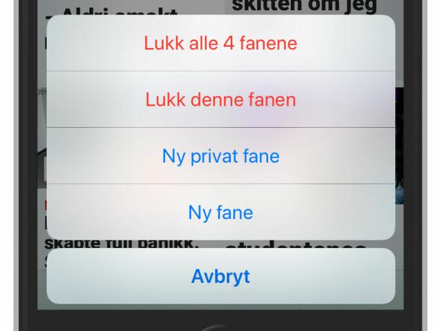 LUKK ALLE FANER: Med bare to trykk på iPhone. Foto: Ole Petter Baugerød Stokke