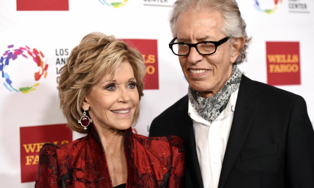 BRUDD: Jane Fonda og plateprodusenten Richard Perry møttes for første gang i 2009. I fjor gikk de hver til sitt. Foto: NTB scanpix