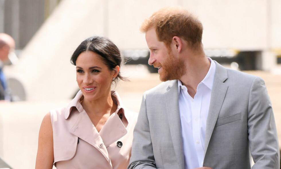 BLE «FORELDRE»: Hertuginne Meghan og prins Harry skal allerede i begynnelsen av sommerferien ha fått et nytt «familiemedlem». Foto: NTB Scanpix