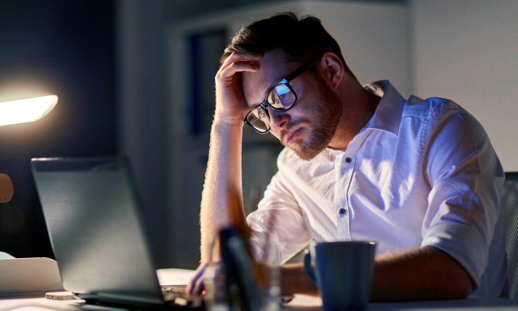 STRESS PÅ JOBB: Personer som har lange, stressende arbeidsdager, er mer utsatt for å utvikle hjertesykdom på sikt. FOTO: NTB Scanpix