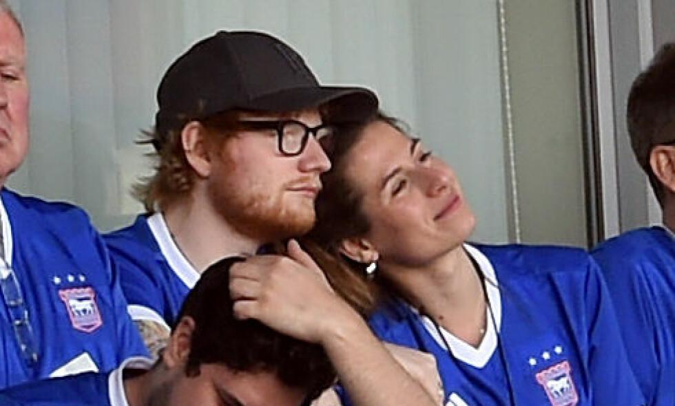 GIFTET SEG?: Flere mener nå at Ed Sheeran har giftet seg i hemmelighet med Cherry Seaborn etter et noe merkelig svar under et intervju tidligere denne uken. Foto: NTB Scanpix