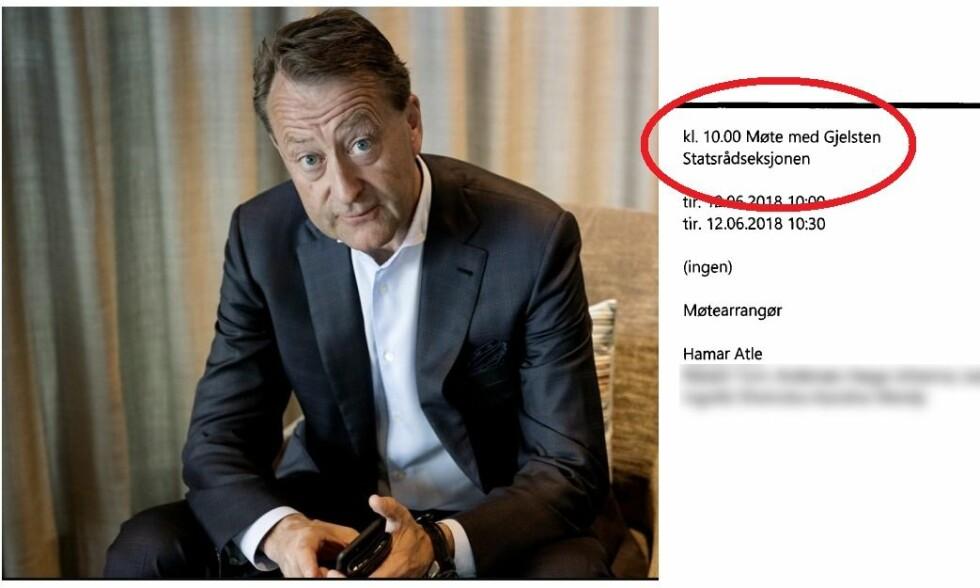 OMSTRIDT: Da ordføreren i Porsgrunn ba om innsyn i kalenderen til politisk ledelse, fant han at de har hatt flere møter med Bjørn Rune Gjelstens selskap om den svært omstridte deponi-saken.