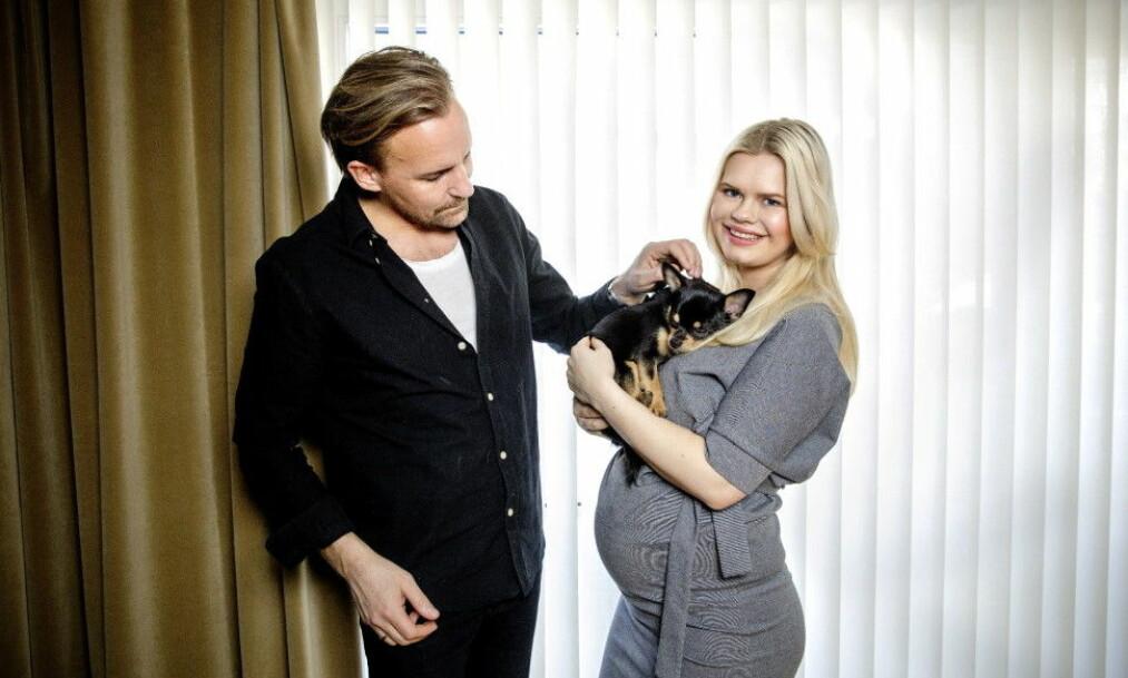 <strong>NYBAKTE FORELDRE:</strong> Julianne og Ulrik tok til Instagram for å introdusere sønnen til omverdenen. Foto: Nina Hansen / Dagbladet