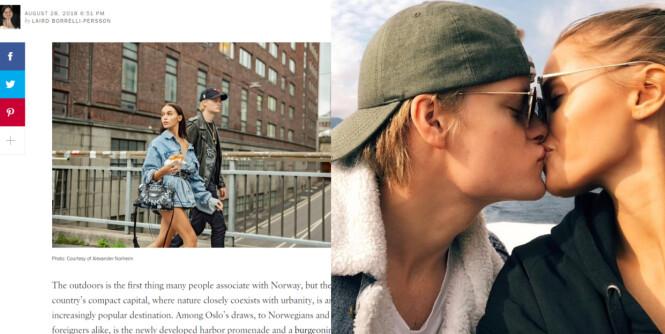 Marius og Juliane poserer i Vogue