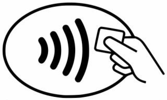 74a4bb87 RIKTIG MERKE: Har betalingsterminalen dette merket, kan du betale med  produkter som har kontaktløs