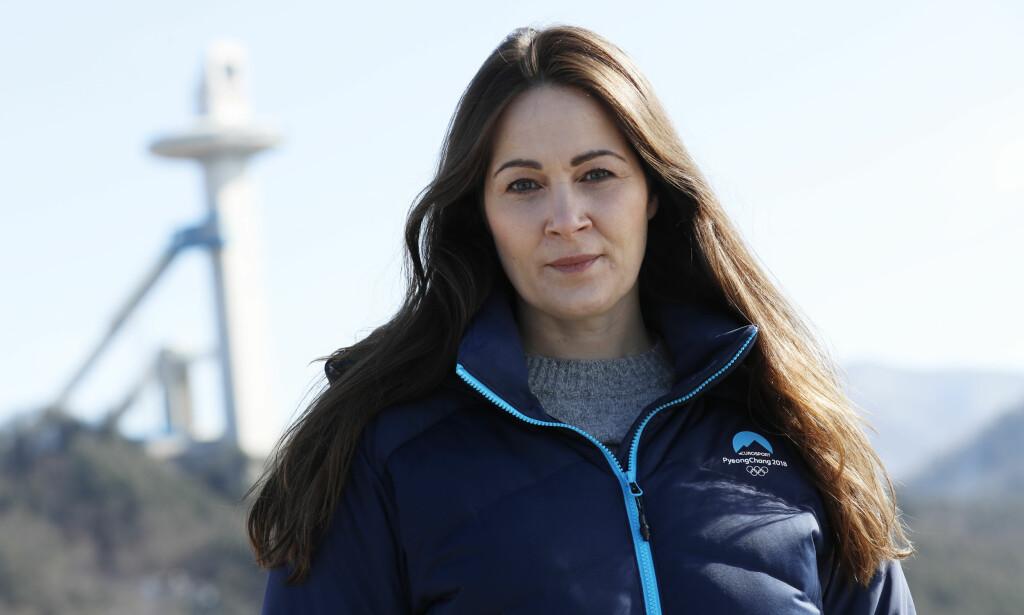 FÅR STÅ PÅ HANS REGNING: Hanne McBride i Discovery svarer på legekritikken. Her fotografert under OL i Pyeongchang.  Foto: Erik Johansen / NTB scanpix