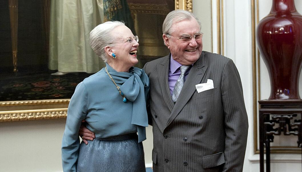 I GODE OG ONDE DAGER: Prins Henrik og dronning Margrethe kunne feire gullbryllup 10. juni. Da hadde ekteparet vært gift i 50 år. Foto: Keld Navntoft / Scanpix