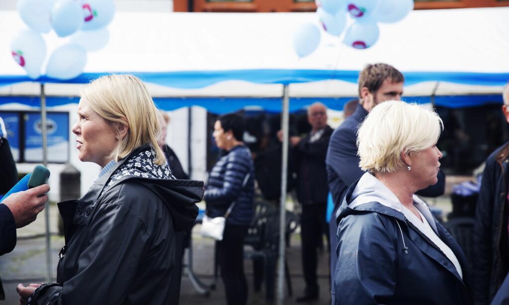 KJEMPEJOBB: Sylvi Listhaug mener Siv Jensen gjør en kjempejobb som partileder. Foto: Frank Karlsen / Dagbladet