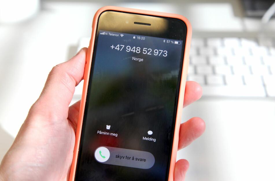 SVAR: Du kan gi telefonselgere beskjed direkte om du ikke ønsker å bli oppringt (nummeret på telefonen har for ordens skyld ingenting med telefonsalg å gjøre). Foto: Lisa Wisløff