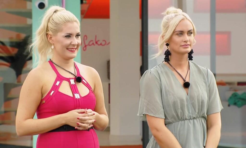 VALGETS KVAL: I kveldens episode av «Love Island» stod det til slutt mellom Sofie og Andrea da guttene skulle velge seg partnere. Foto: TV3