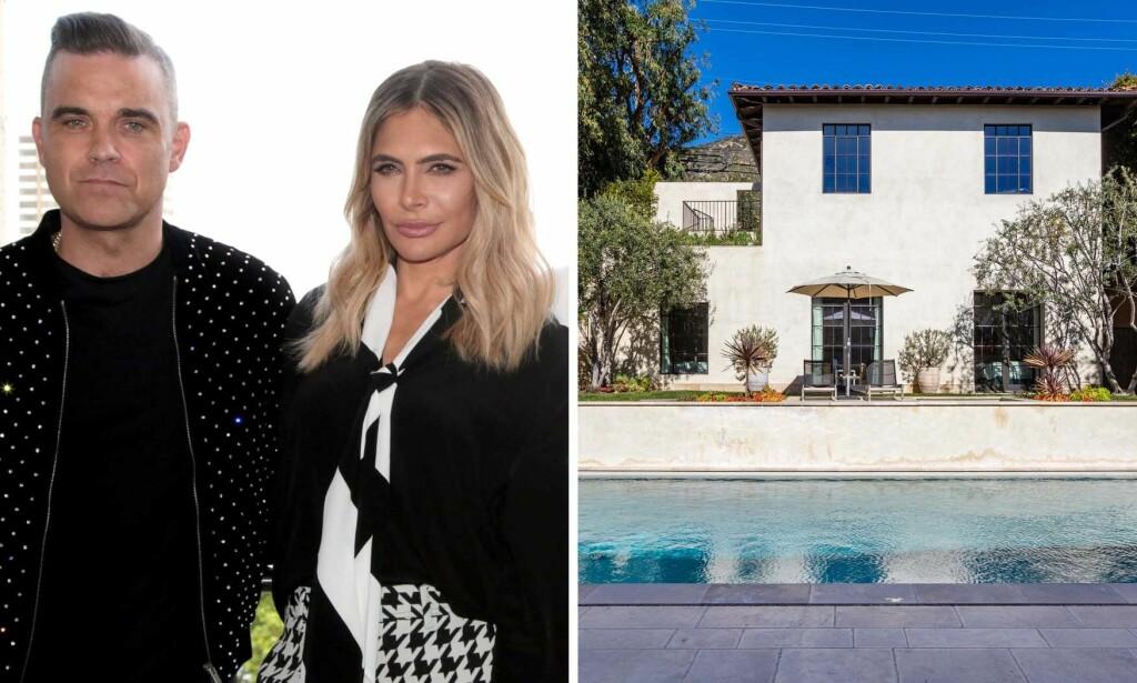 LUKSUSVILLA: Ekteparet Robbie WIlliams og Ayda Field har kjøpt seg en ny luksuseiendom i Malibu, som nok vil gjøre de fleste grønne av misunnelse. Foto: Splash News/ NTB scanpix