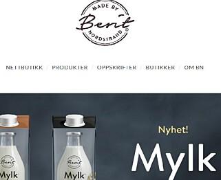 """STRIDENS KJERNE: Er firmanavnet """"Made by Berit Nordstrand"""" øverst på siden til nettbutikken en ulovlig helsepåstand? Ja, mener Mattilsynet."""