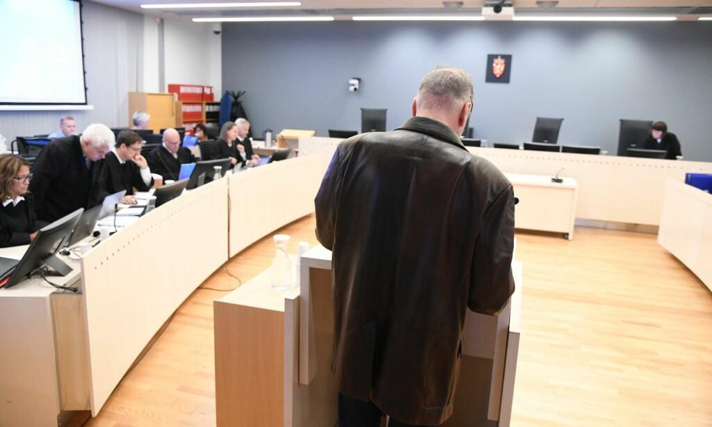 I RETTEN: Eirik Jensen forteller om det hemmelige prosjektet i retten fredag. Men detaljtene forklares bak lukkede dører. Foto: Hans Arne Vedlog / Dagbladet