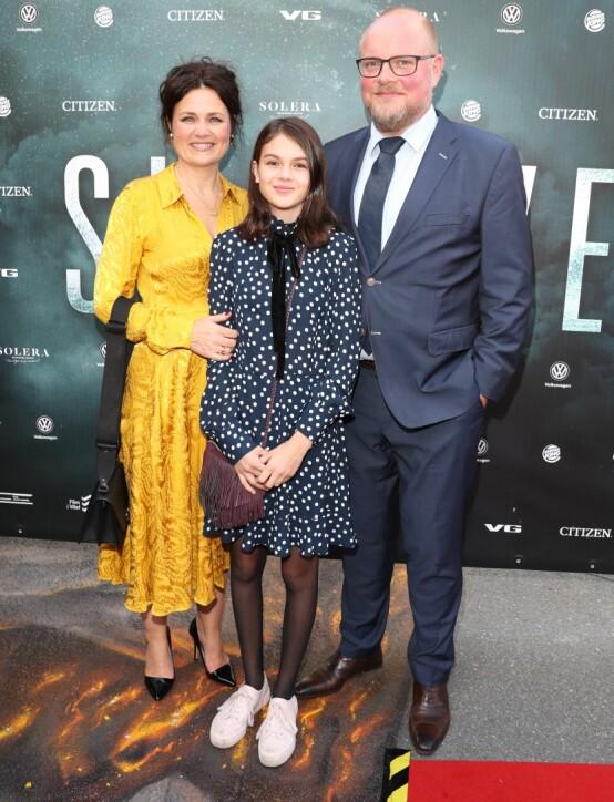 <strong>FAMILIE PÅ KINO:</strong> Steinar Sagen gleder seg til å se kona Catrin Sagen som skuespiller i sin aller første storfilm. Foto: Andreas Fadum / Se og Hør