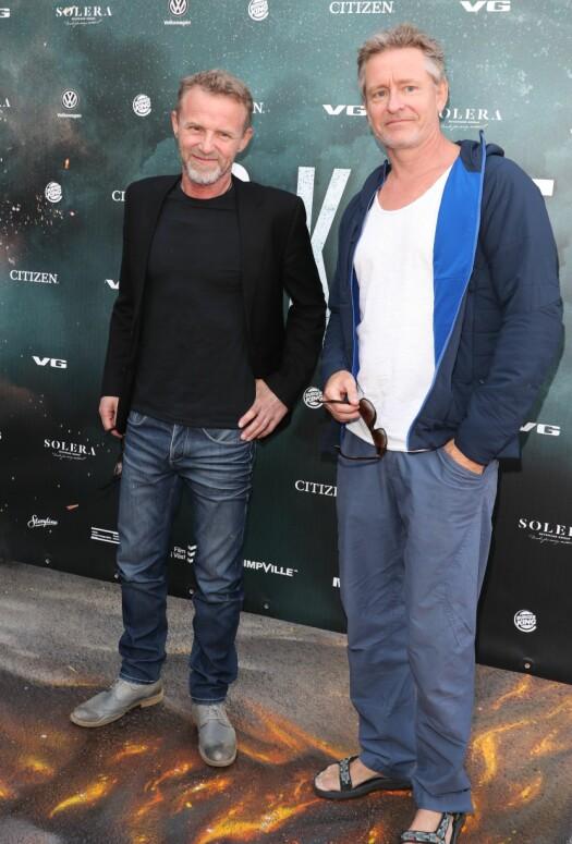 <strong>GODE VENNER:</strong> Forfatter Jo Nesbø og skuespiller Henrik Mestad kom sammen. Foto: Andreas Fadum / Se og Hør