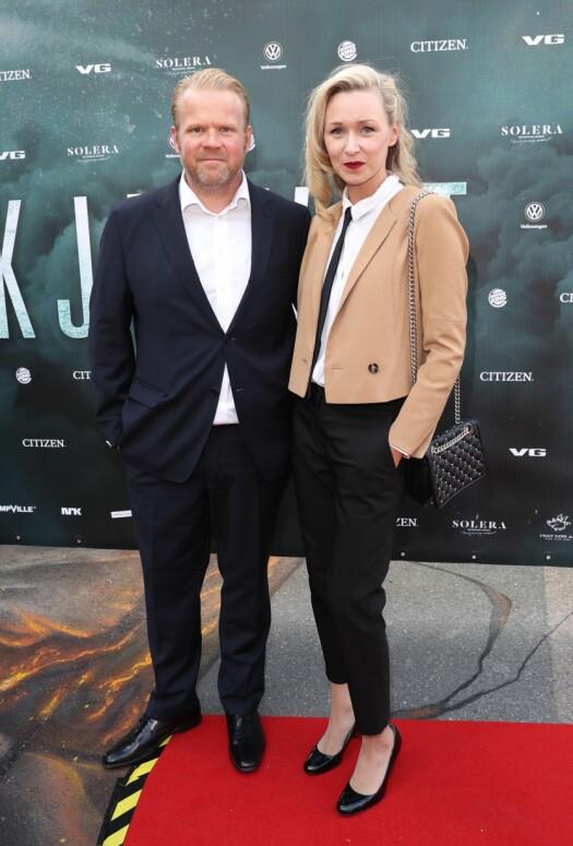 <strong>DATE:</strong> Kjæresteparet Anders Baasmo Christiansen og Marie Blokhus kom også for å se på premieren av den nye kritikerroste filmen. Foto: Andreas Fadum / Se og Hør