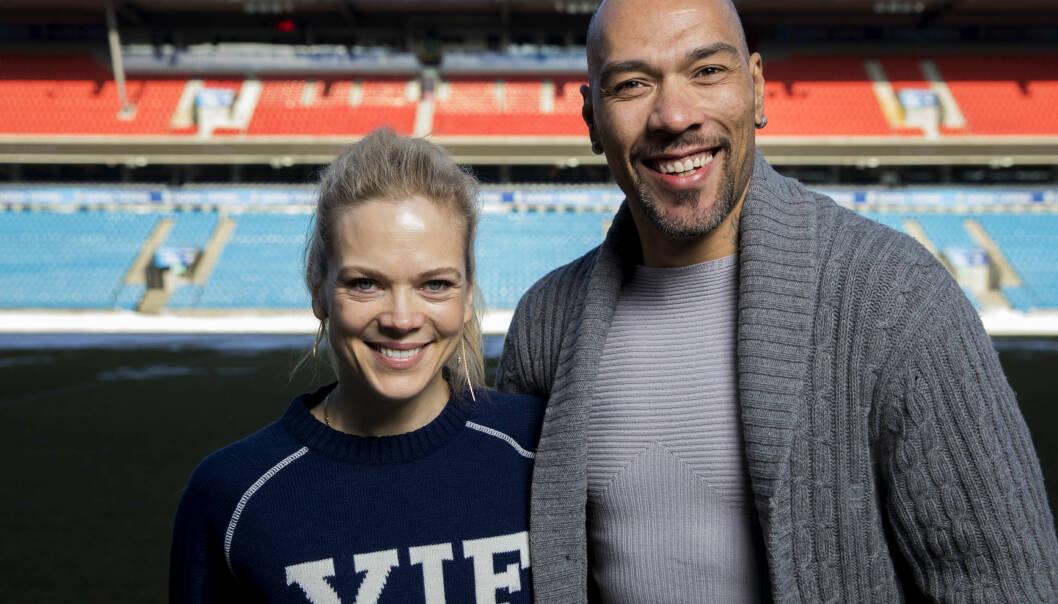 STREIK: Skuespillerne Ane Dahl Torp og John Carew spiller hovedrollene i NRK-serien «Heimebane». Nå rammes produksjonen av streik. Foto: Tore Meek / NTB scanpix