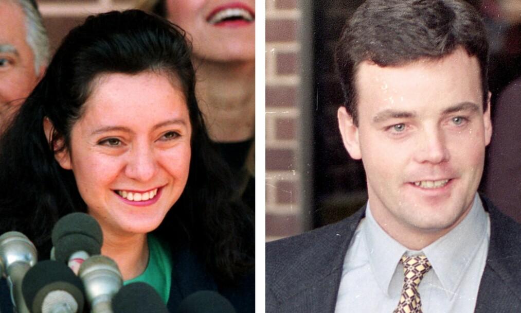 SJOKKERTE: Lorena og John Wayne Bobbitt giftet seg i 1989. Bare fire år seinere, i 1993, oppsto en hendelse i parets hjem som fikk verdensomspennende omtale. Foto: NTB Scanpix