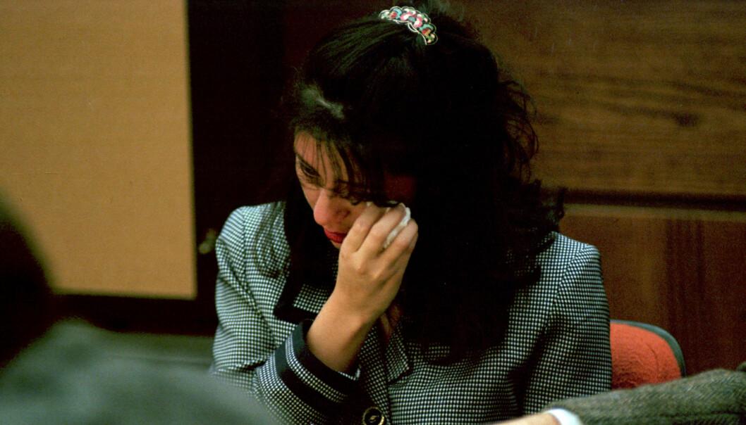 FØLELSESLADET: Lorena Bobbitt forklarte i retten at hun skal ha blitt mishandlet og voldtatt av ektemannen. Foto: NTB Scanpix