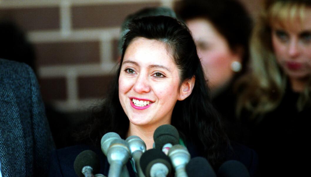 FRIKJENT: I likhet med John Wayne Bobbitt, ble Lorena frikjent etter å ha erklært seg sinnssyk i gjerningsøyeblikket. Hun tilbrakte seinere 45 dager på psykiatrisk sykehus. Foto: NTB Scanpix
