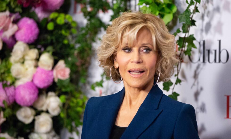 UNG TIL SINNS: 80 år gamle Jane Fonda forklarer hvorfor hun mener at sexlivet bedrer seg jo eldre man blir. Hun er for tiden aktuell i en film der hun spiller karakteren Vivian, en kvinne som foretrekker et forhold uten forpliktelser. Foto: NTB scanpix