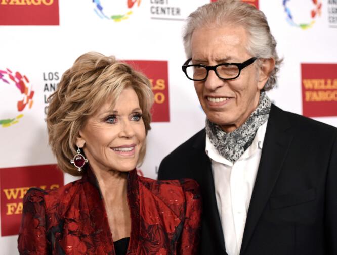 <strong>BRUDD:</strong> Jane Fonda og plateprodusenten Richard Perry møttes for første gang i 2009. I fjor gikk de hver til sitt. Foto: NTB scanpix