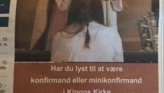Dansk kirke får kritikk for oppsiktsvekkende annonse. Presten går til motangrep