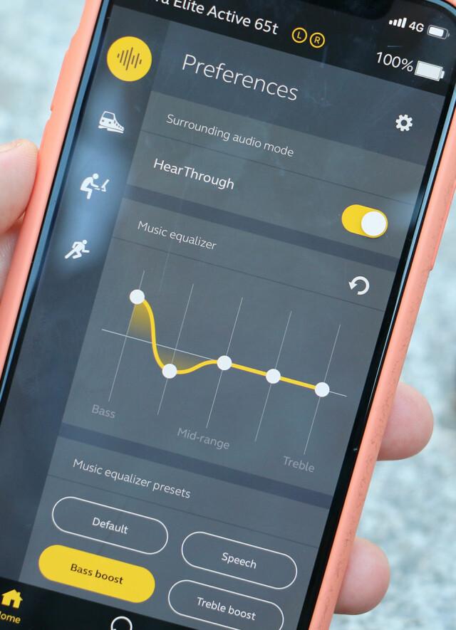 490b80dc30c GOD APP: Appen gir deg mulighet til å endre lydbildet med for eksempel bass.