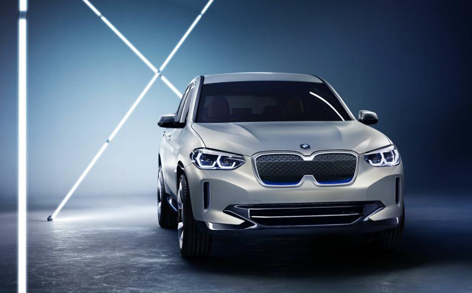 KAN RESERVERES: BMWs kommende elbil-SUV iX3. Foto: BMW