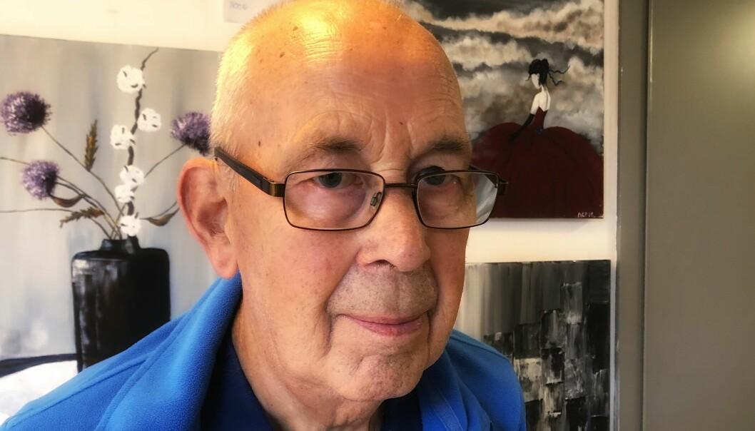<strong>GODT I NORGE:</strong> - Jeg føler meg heldig som bor i Norge hvor de eldre får så god hjelp som de får, sier pensjonist Audun Thorsheim (81). Foto: Linn Merete Rognø