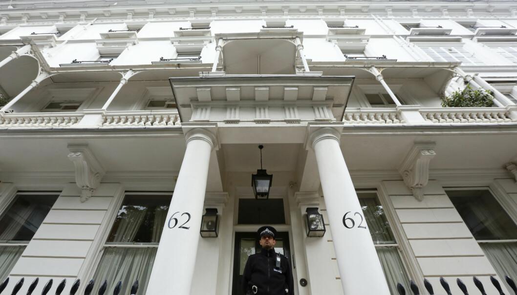 BOLIGEN: Da politiet ransakte ekteparet Rausings hjem i leilighetskomplekset Cadogan Place i Belgravia i London i juli 2012, fant de liket til den avdøde milliardæren Eva Rausing. FOTO: NTB Scanpix