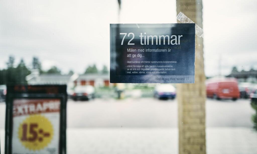 USIKKER STEMNING: Stadig flere svensker uroer seg for ei framtid hvor konsekvensene av terror, cyberangrep, ekstremvær og militære angrep kan sette sikkerheten deres i stor fare.