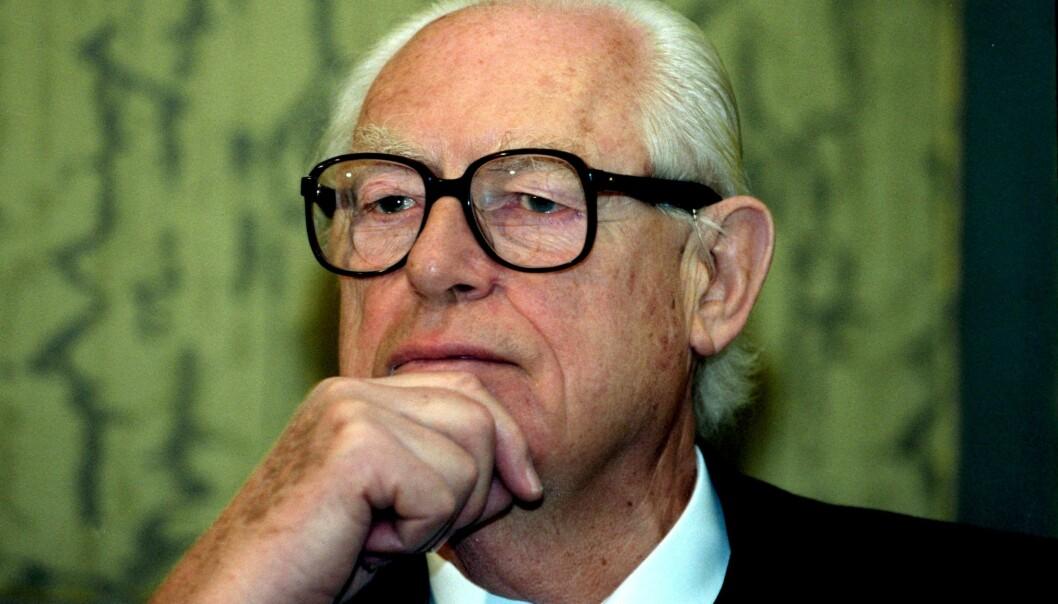 UTPEKT AV SVIGERDATTEREN: Før sin død hevdet Eva Rausing at svigerfaren Hans Rausing hadde utført drapet på Olof Palme. Han benekter dette. Per i dag står Palme-drapet som uløst. FOTO: NTB Scanpix