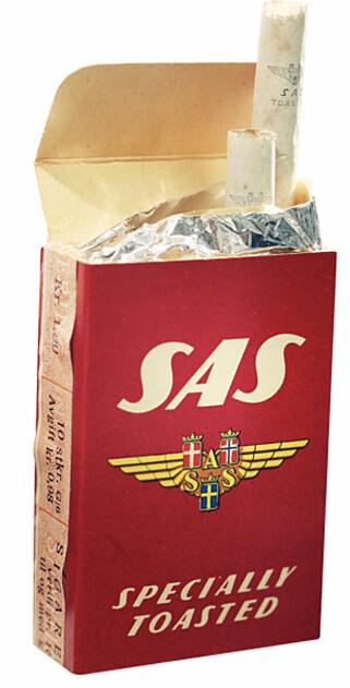 DEN GANG DA: På 1950-tallet kunne du få kjøpt egne SAS-sigaretter. Foto: SAS