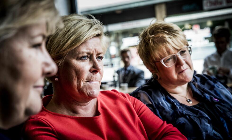 UTSETTER: Regjeringen og Siv Jensen. Foto: Christian Roth Christensen