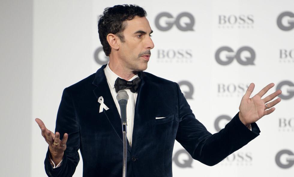 SAKSØKES: I sin nye serie «Who is America?» har Sacha Baron Cohen rundlurt en rekke kjente amerikanere. Nå blir han saksøkt. Foto: NTB Scanpix
