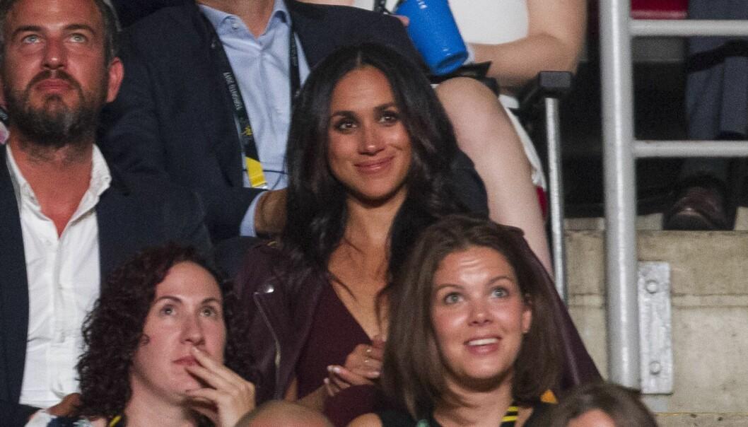 BLE PASSET PÅ: Sikkerhetsvaktene var aldri langt unna Meghan Markle etter at hun ble sammen med prins Harry. Her på Invictus Games i Toronto i fjor høst. Foto: AFP/ NTB scanpix
