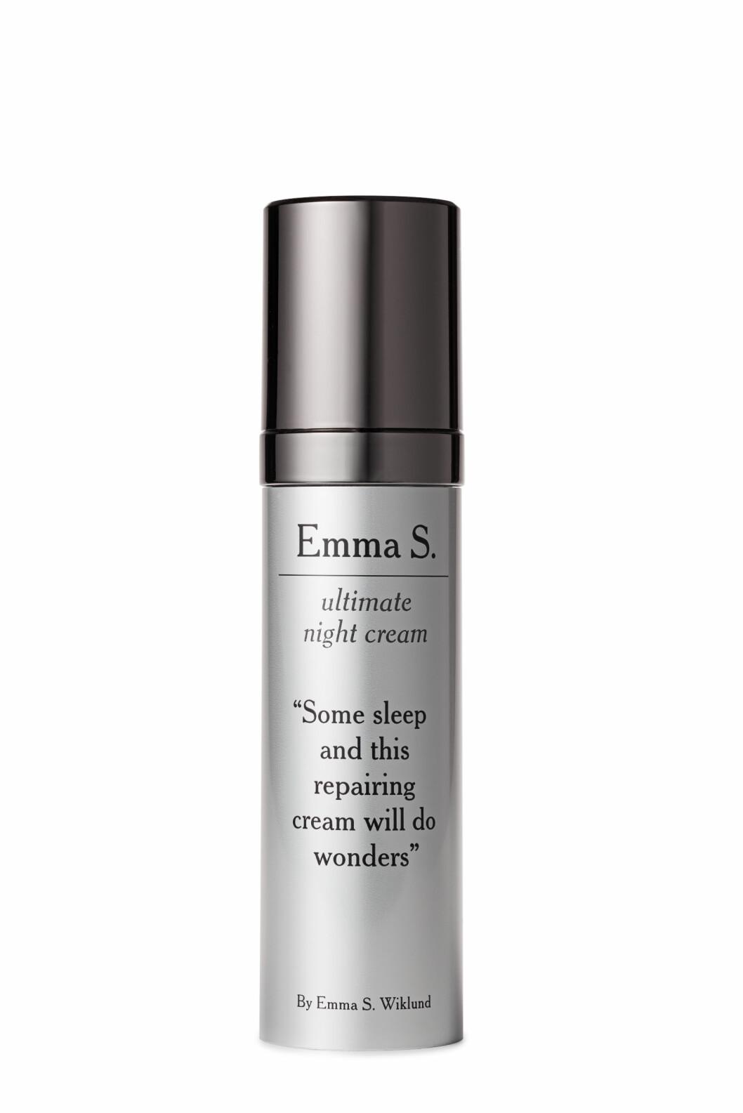 Med vitamin A-derivat og oppstrammende peptider (kr 700, Emma S, Ultimate Night Cream)