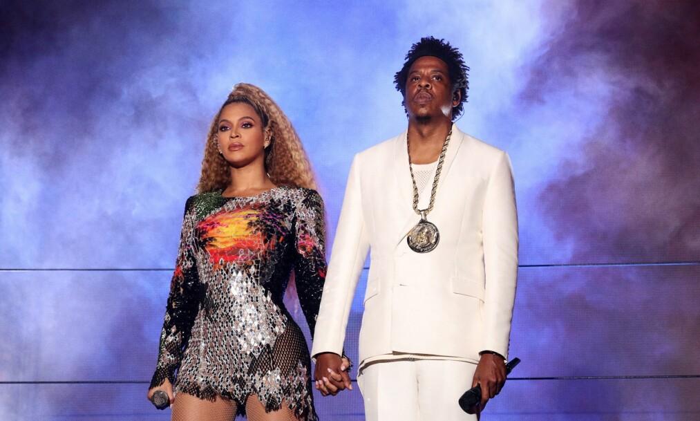 EKTEPAR: Beyoncé og Jay Z feirer i år at de har vært gift i ti år. Foto: NTB Scanpix
