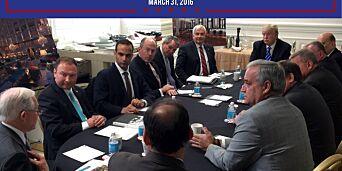 image: Ordkrig om beryktet møte kan skade Trump-minister