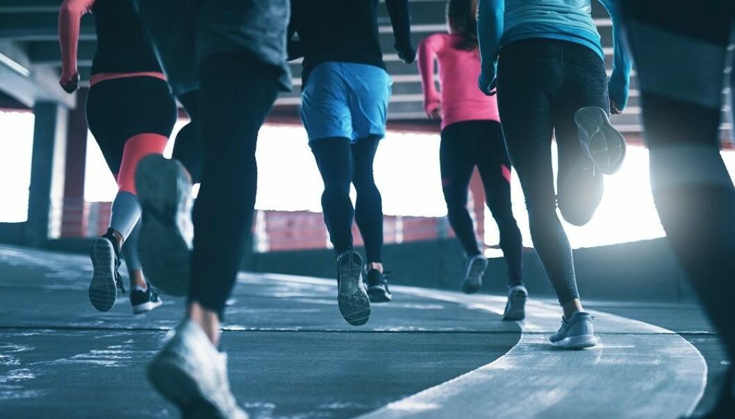 MÅ VINNE: Noen av oss må vinne i alt vi gjør, for eksempel under en felles treningsøkt. FOTO: NTB Scanpix