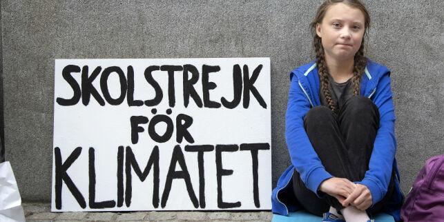 image: Klimaaktivisten Greta (16) er årets kvinne i Sverige