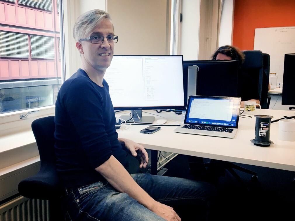 Karl Anders Øygard i Folio har en lang karriere bak seg. Og det begynte med BASIC på papir på begynnelsen av 80-tallet. Foto: Privat