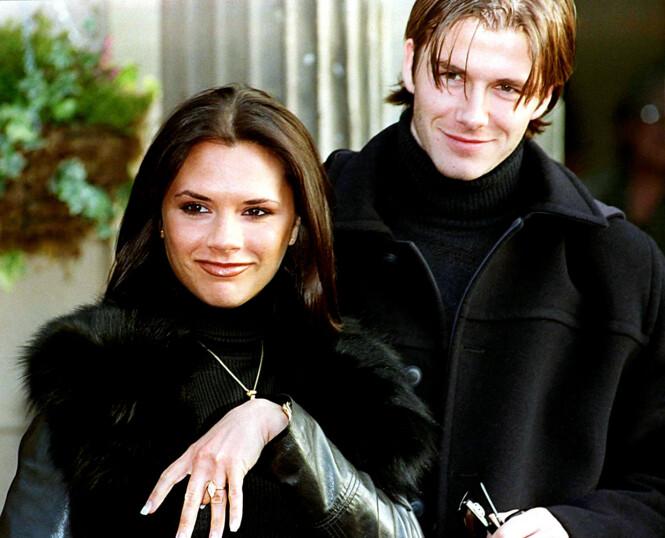 <strong>20 ÅR SIDEN:</strong> Det berømte ekteparet møttes for første gang i 1997. Her avbildet året etter da de annonserte at de skulle gifte seg. Foto: NTB scanpix