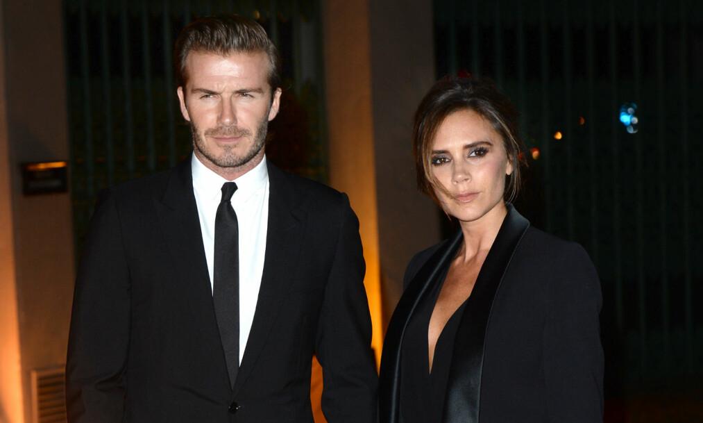 <strong>GIKK GALT:</strong> Den britiske motedesigneren Victoria Beckham fikk fansen til å tro at hun ønsket å skille seg fra ektemannen, David Beckham. Foto: NTB scanpix